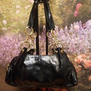 🖤HOBO INTERNATIONAL BLACK PATENT SHOULDER BAG